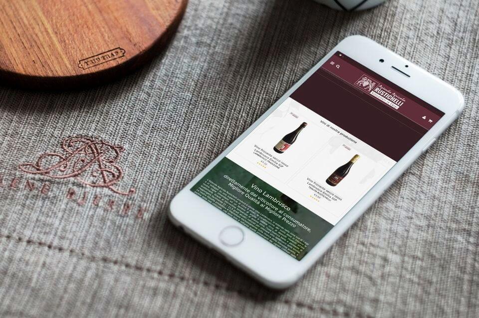 Lambrusco Rustichelli sito ecommerce vino