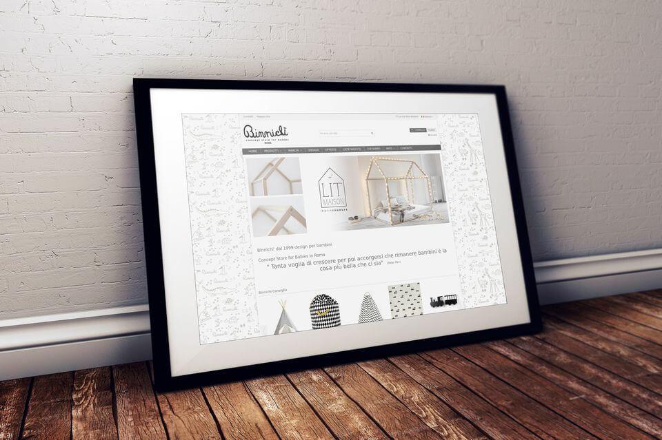 Binnichi Roma sito web ecommerce